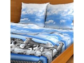 Простыня Гепарды (синий)